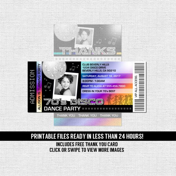 352 best Invitations images on Pinterest Ticket invitation - printable ticket invitations