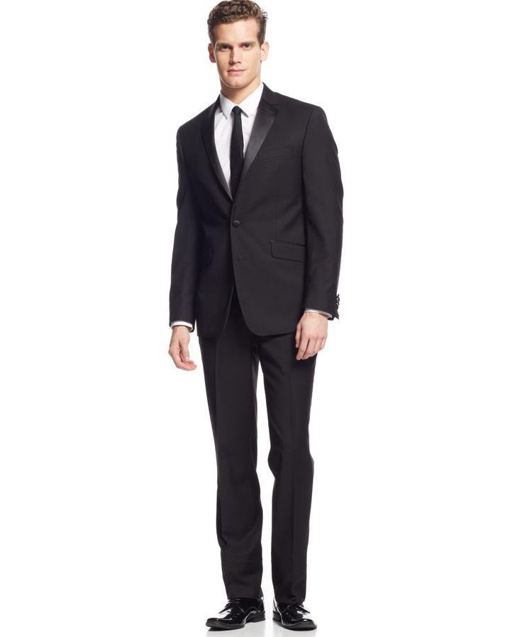 Kenneth Cole Reaction Slim-Fit Black Tuxedo