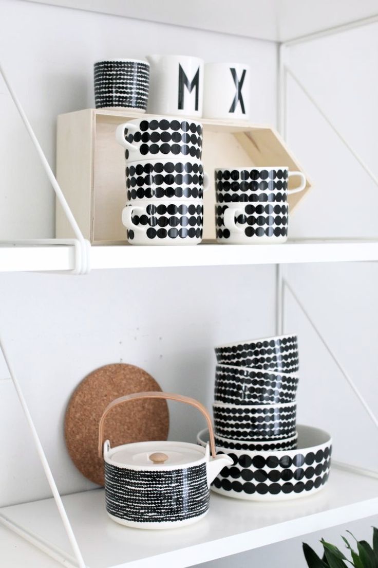 Marimekko, siirtolapuutarha black and white looking stylish as ever, this is a Cloudberry Living favourite.