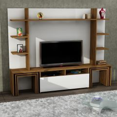 Dante Tv Ünitesi Beyaz-Ceviz