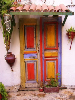 Amazing colors on this door