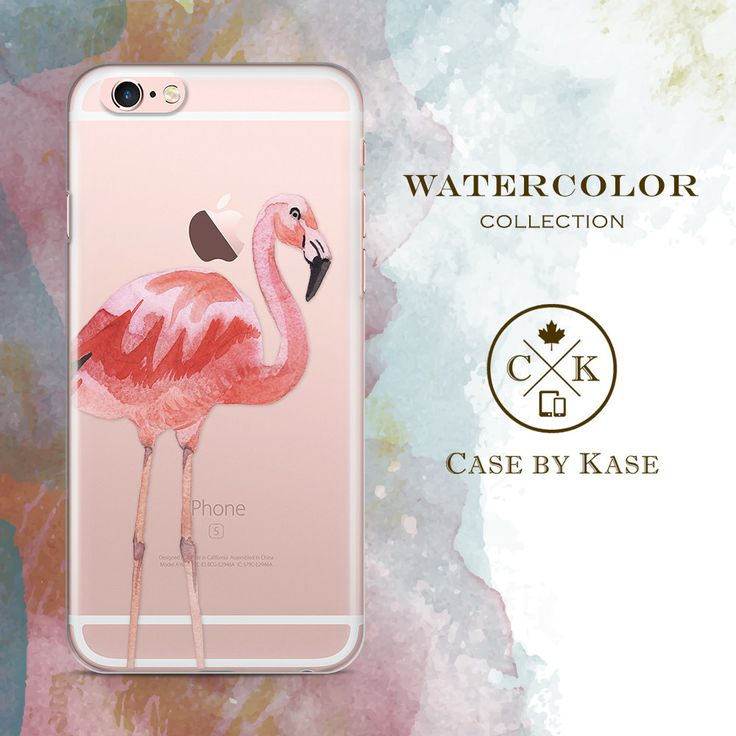 Watercolor Flamingo Clear iPhone 6 Case iPhone 6s by CaseByKase