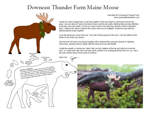 moose pdf pattern _ this Maine moose looks an awful lot like an Ontario moose, or maybe a Newfoundland moose.