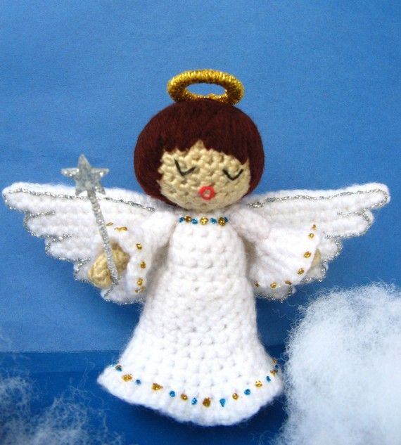 Amigurumi Angel Crochet Pattern PDF christmas tree decor handmade fairy doll making homemade gift idea tutorial