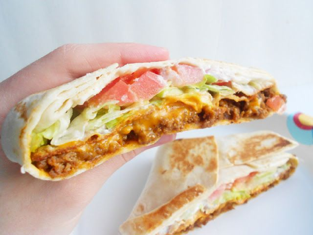 Homemade crunchwrap supreme! more healthy than Taco Bell. sounds yum!