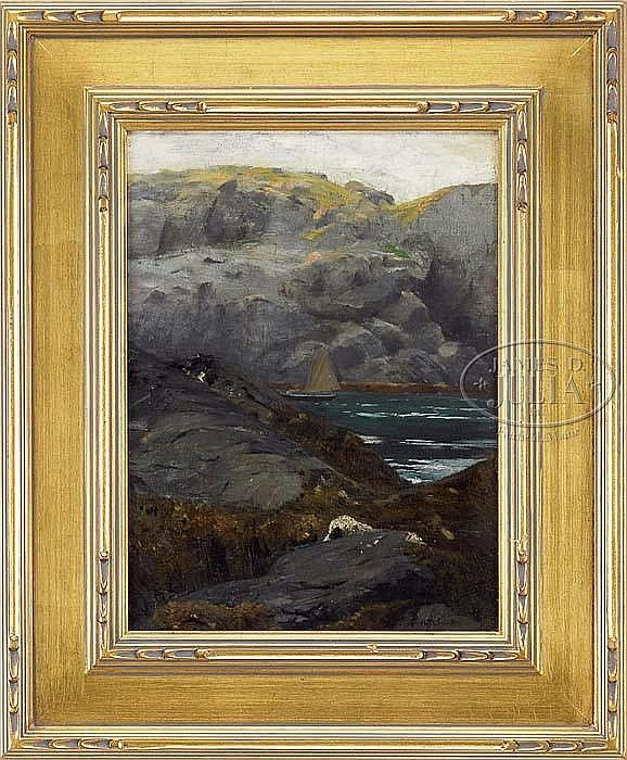 Quot Monhegan Quot Henry Bayley Snell Oil On Canvas 16 1 4 X 12
