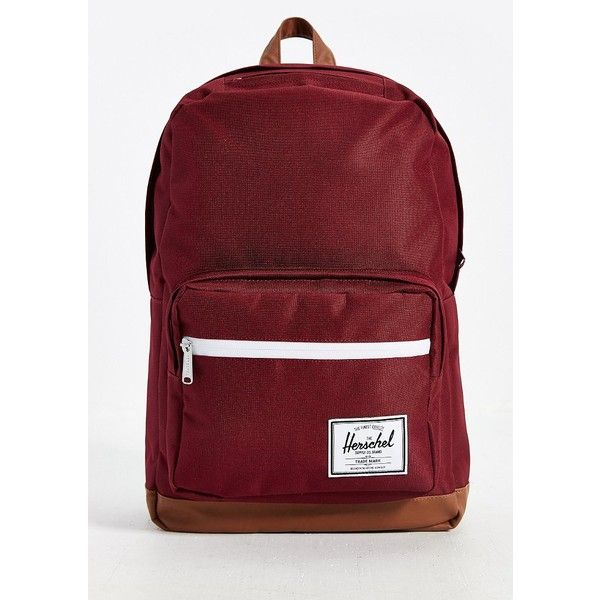 Herschel Supply Co. Pop Quiz Backpack (£45) ❤ liked on Polyvore featuring bags, backpacks, purses, maroon, stripe backpack, padded laptop backpack, padded backpack, waterproof laptop backpack and laptop rucksack