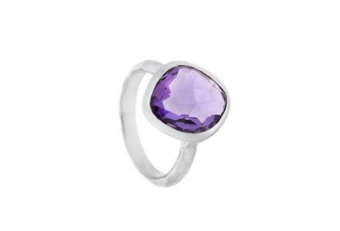 Buy a Missoma Athena Amethyst Silver Ring at Charles Fish