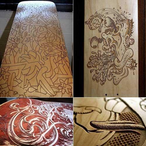 skateboard wood cut