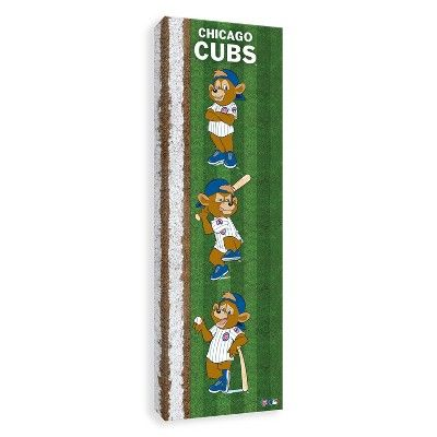"MLB Chicago Cubs Mascot Poses Canvas Art - 30""x10x1.25"""
