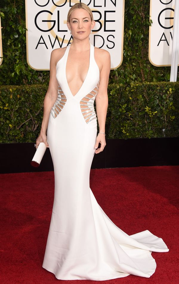 Golden Globes 2015 Kate Hudson in Versace, Forevermark Diamonds   blog.theknot.com