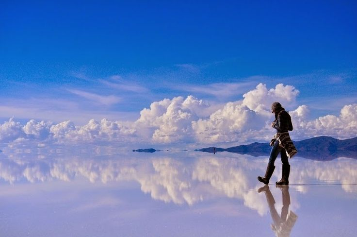 Reflective Salt Flats in Bolivia
