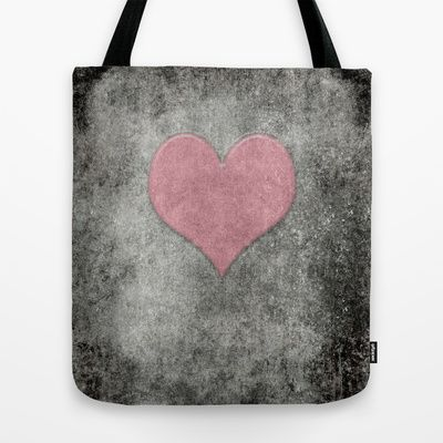 Valentines Grunge Love in Opal Pink Tote Bag by Bruce Stanfield - $22.00