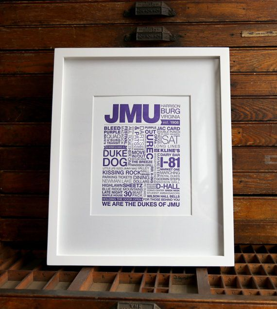It had been years, but on my way from Northern Virginia to Asheville, NC for a letterpress conference, I stopped by my alma mater, James Madison