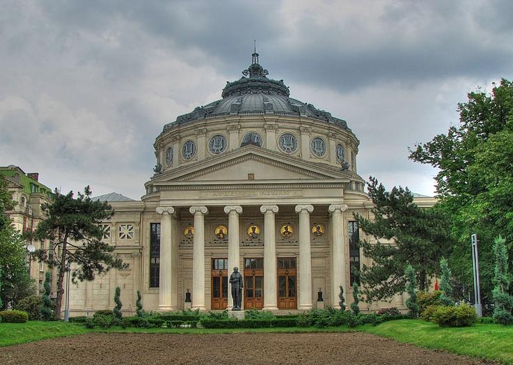 the wonderful Romanian Athenaeum, located downtown, 15 minutes walking distance trough Cismigiu Gardens park