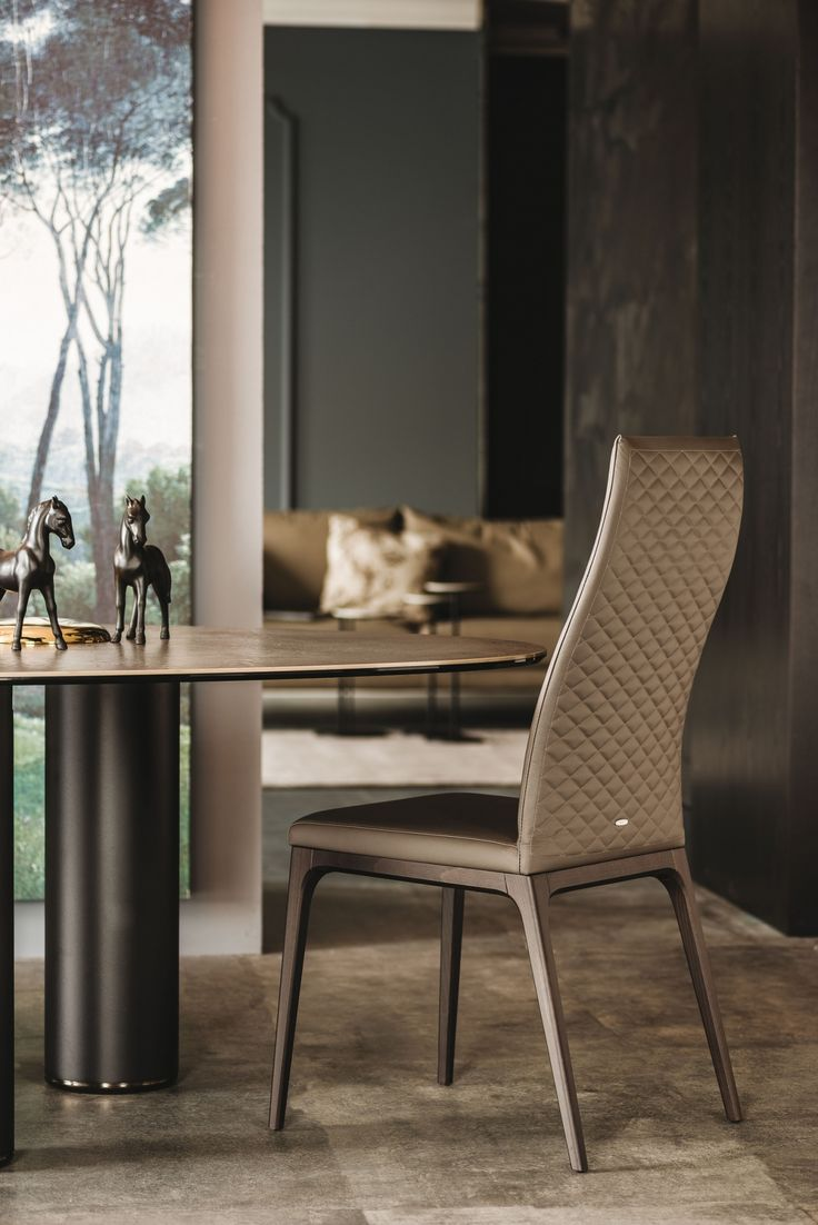 This contemporary dining chair designed by Cattelan