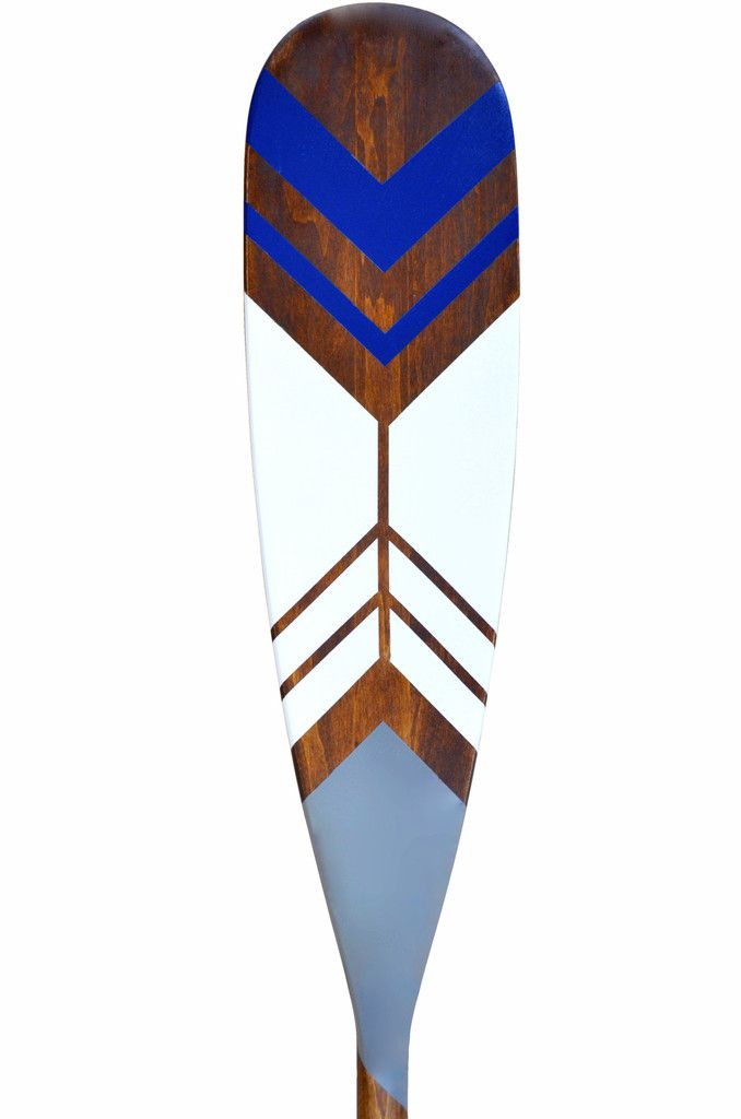 Hand painted canoe paddle blade