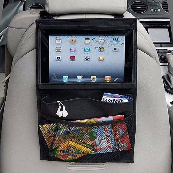 iPad Holder & Hanging Organizer For Backseat of Your Car / SUV / Mini Van / Truck