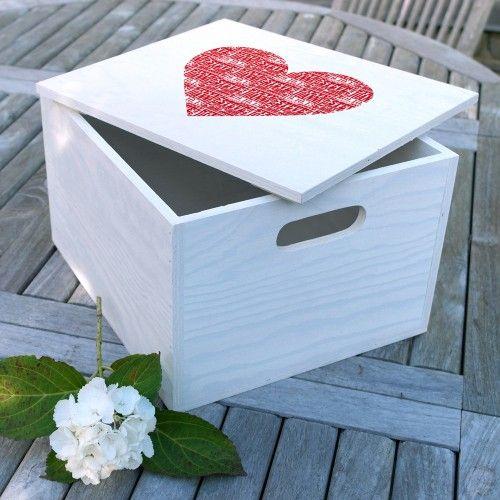 Personalised Heart Keepsake Box. An eco friendly keepsake box.
