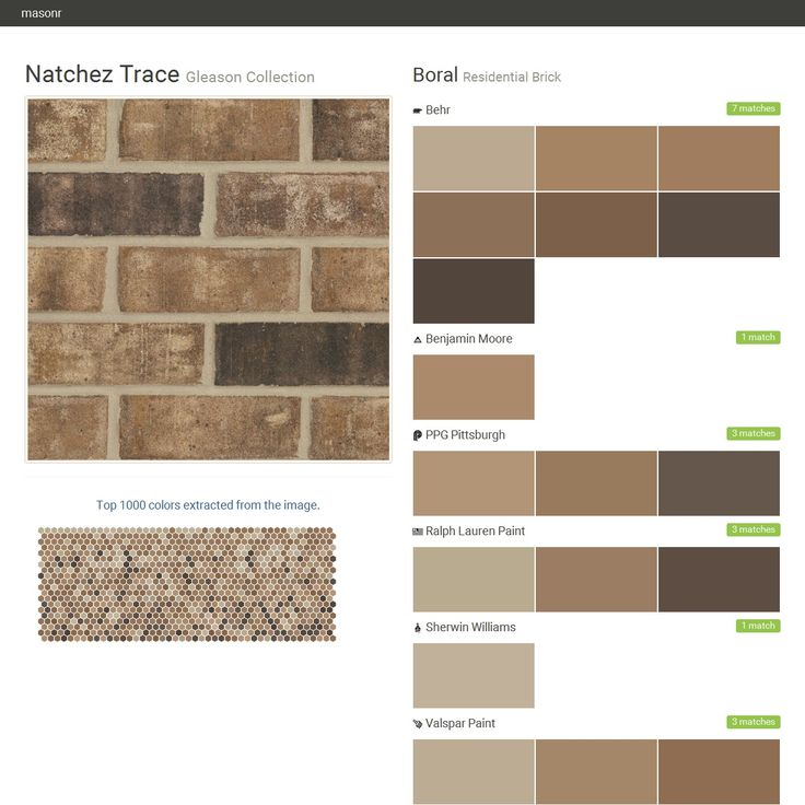 Natchez trace gleason collection residential brick boral behr benjamin moore ppg paints - Breathable exterior masonry paint collection ...