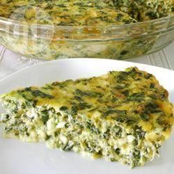 Photo recette : Quiche sans pâte aux épinards