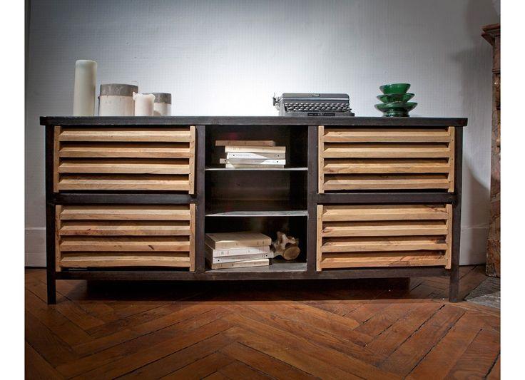 25 best ideas about buffet style industriel on pinterest. Black Bedroom Furniture Sets. Home Design Ideas