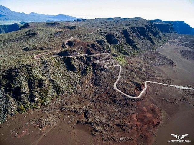 La route forestière du volcan