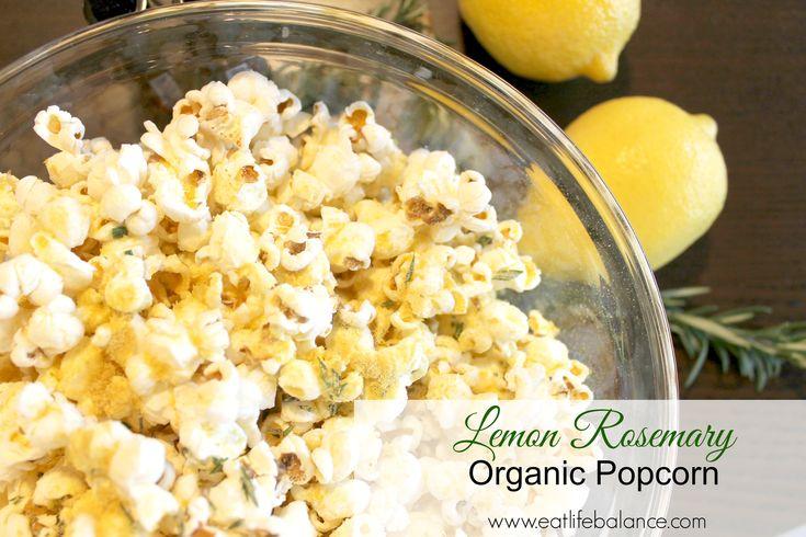 Lemon Rosemary Organic Popcorn