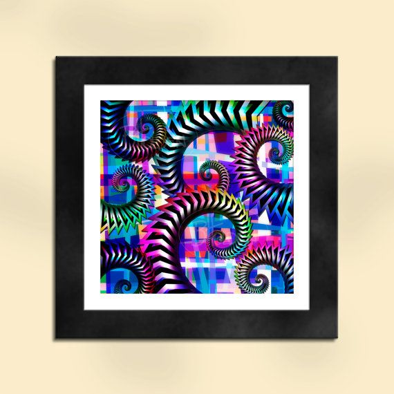 Swirls Abstract Art Print by SapphireMoonArt on Etsy