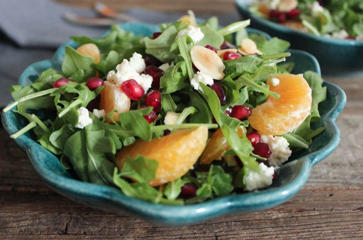 Pomegranate, Clementine and Ricotta Salad with Avocado and Toasted Almonds (aka Antioxidant Salad). This nutritional powerhouse salad will rock your world!