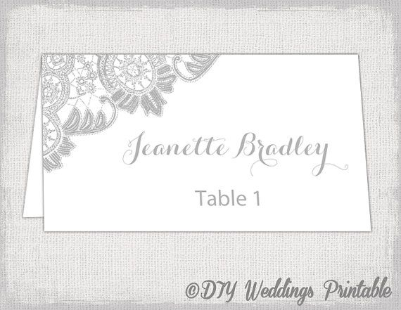 wedding place cards template