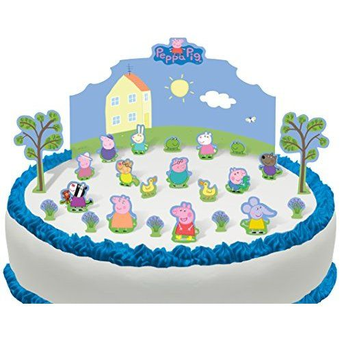 18 Stand Up Peppa Pig and Friends Premium Edible Wafer Paper Cake Toppers