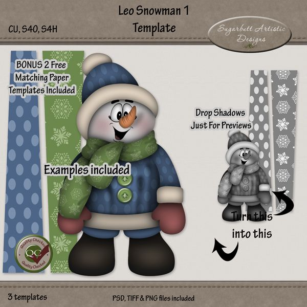 Photoshop template for graphic design and scrapbooking. You can find links to my store for this template on my blog here http://sugarbuttartisticdesigns.blogspot.com/2015/12/new-snowman-template-now-in-my-stores.html