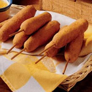 Corn dogs are my favorite food in the entire world! I know this makes me sound fat but I don't care. lol