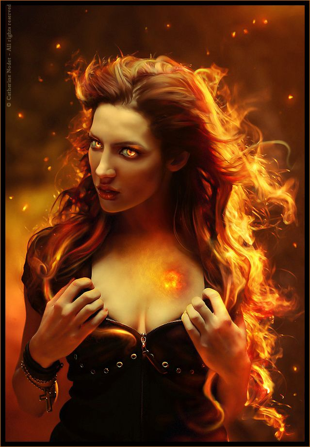 Heart of fire by ~CatherineNodet on deviantART