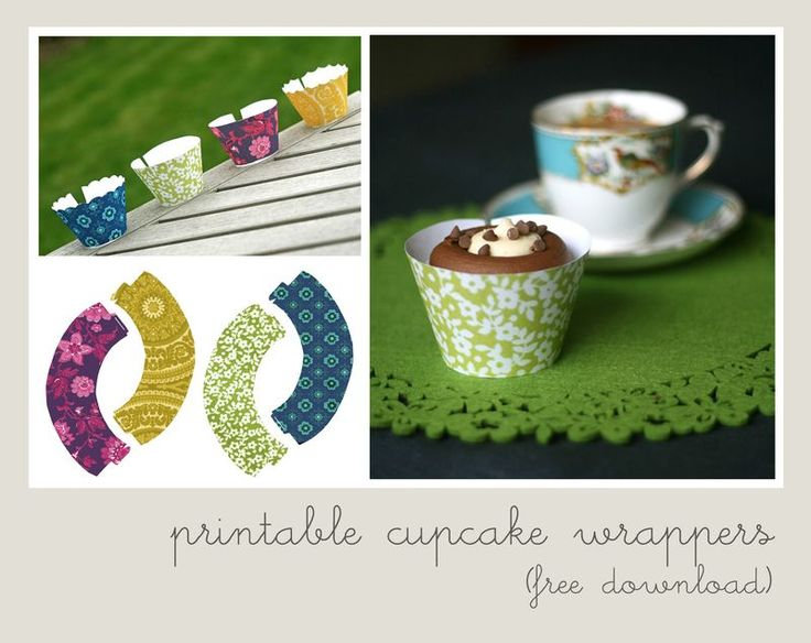 Printable Cupcake Wrapper.... Free Download....