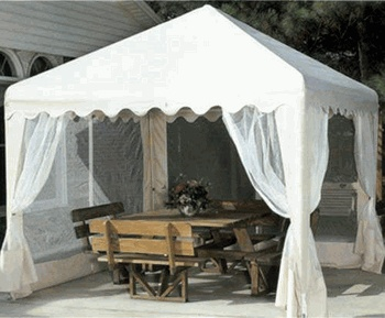 perfect for outdoor weddings - measures 10' by 10'