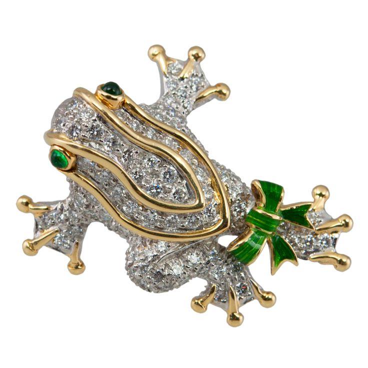 TIFFANY Diamond Frog Pin/Pendant