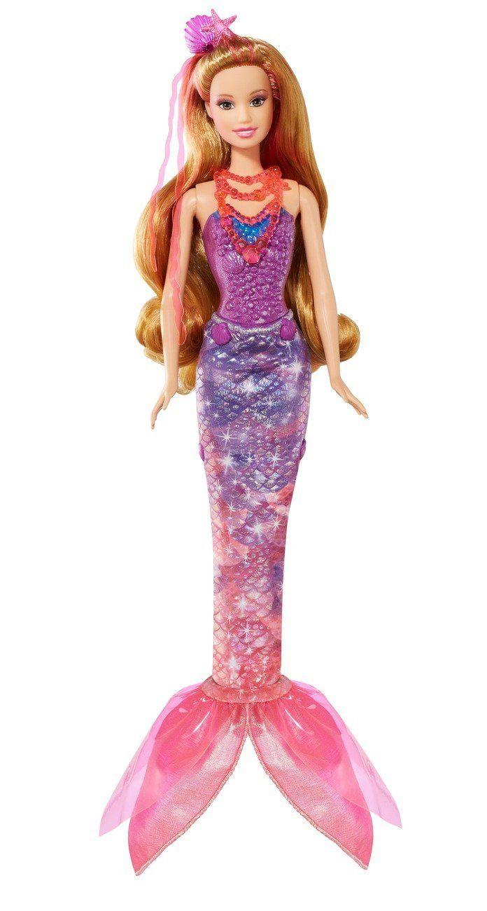 Mattel Barbie BLP25 Barbie und geheime Tür Magische Meerjungfrau mit Funktion Puppe