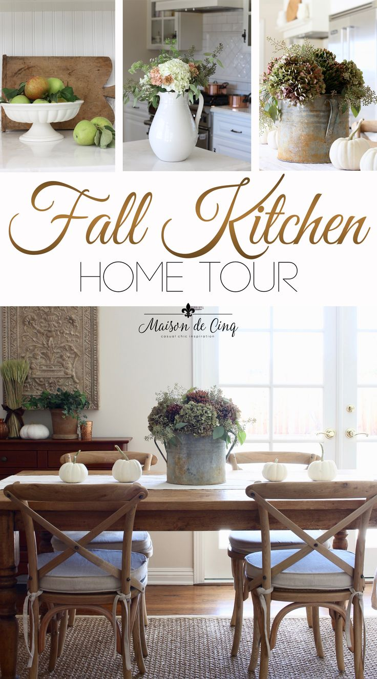 Fall Kitchen Tour Featuring The Coppery Colors Of Fall