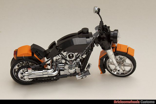 Harley Davidson Fatboy (1:10) in Lego | It is exactly a year… | Flickr