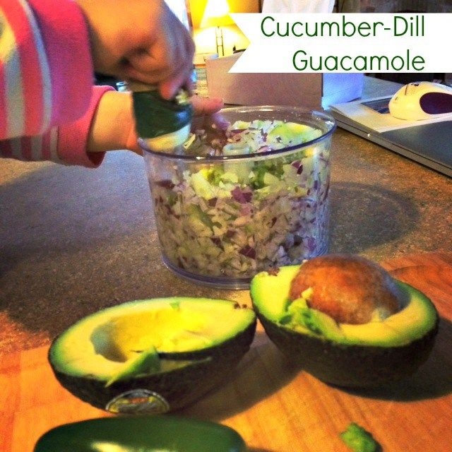 Easy Cucumber Dill Guacamole #Pampered Chef