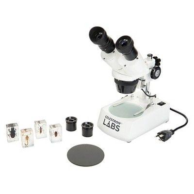Celestron S10-60 Stereo Microscope - Black/White