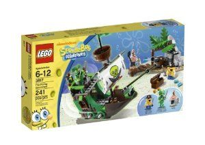 LEGO SpongeBob The Flying Dutchman 3817 by LEGO Spongebob. $19.99. Features pirate ship and small island. Island features boardwalk, hidden treasure chest and cannon. Includes 3 minifigures: Pirate SpongeBob, Pirate Patrick and The Flying Dutchman. Pirate ship features plank, sail and crow's nest. Treasure map, 2 cutlasses, shovel, and a bag of souls also included. From the Manufacturer                Arrgh! Captain SpongeBob and his first mate Patrick have found an old treasur...