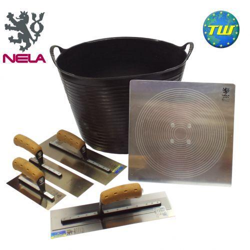 "6pc Professional NELA 14"" Plasterer Tool Set - Plastering Tool Kit 4 http://www.twwholesale.co.uk/product.php/section/10327/sn/Pro-Plasterer-Tools-4"