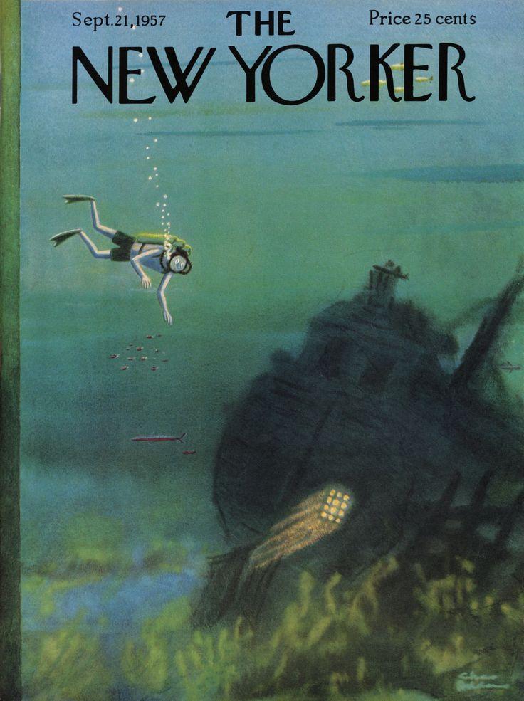 The New Yorker - Saturday, September 28, 1957 - Issue # 1702 - Vol. 33 - N° 32 - Cover by : Ilonka Karasz