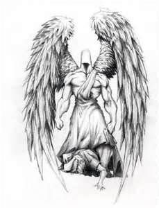 Guardian angel tattoo for men, tattoos, designs. I need one of these! Not the tattoo, the angel. :)