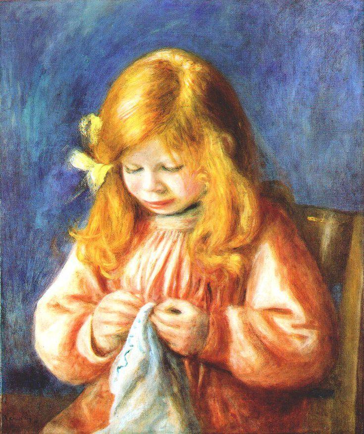 Renor - Bambina che cuce  DonneInArte per #DonneECucito