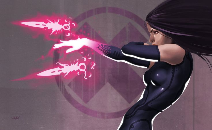 Psylocke by Yvan Quinet #XMen #XForce #Mutants