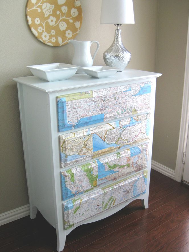 i have some modge podge and I am looking for a project...this could be cute for the baby room.